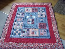 "Handmade Patchwork Panel Quilted / Throw - 62"" x 50"""