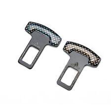 2 x SEAT BELT BUCKLE Car Alarm Eliminator Clip Warning Light Stopper Safety Plug