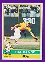 1976 Topps Baseball #90 Sal Bando - Oakland A's