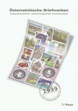 1999 AUSTRIAN STAMPS YEAR SET-POST OFFICE ISSUE PRICE