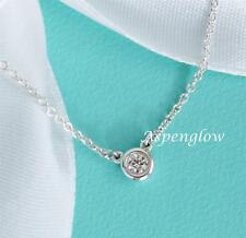 TIFFANY & CO ELSA PERETTI STERLING SILVER .07 DIAMONDS BY THE YARD NECKLACE