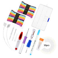 Magic DIY Embroidery Threads Pen Knitting Sewing Punch Needle Set Home Decors