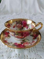 Royal Chelsea TeaCup and Saucer- Golden Rose Pattern