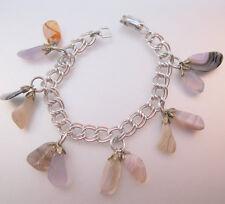 Landscape Agate Charm Bracelet Signed Germany Vintage Jewelry Jewellery