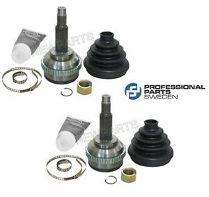 For Saab 9000 2.3 L4 Pair Set of Left & Right Outer CV Joints Pro Parts 4103263