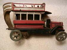DISTLER LONDON DOUBLE DECKER BUS 339 GERMAN 1920'S WIND UP TIN TOY ANTIQUE