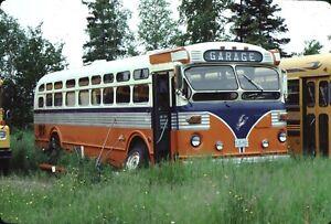 Twin Coach Bus Kodachrome original Kodak Slide