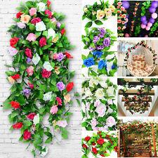 Artificial Fake Silk Rose Flower Ivy Vine Leaf Hanging Wedding Home Decor
