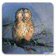 Night Owl Coaster - Set/2 by Alex Clark 10cm x 10cm Laminated Top/Cork Back