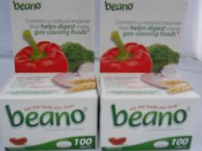 Beano Food Enzyme Dietary Supplement  Prevent Gas & Bloating  100 Tablets (2PKS)
