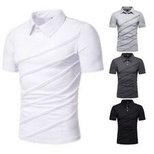 Fashion Men Casual Shirts Short Sleeve T-shirt Shirt Slim Fit Men's Clothing