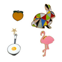 4pcs Vintage Brooch Lot Cartoon Pins Animal Novelty Clothing Girls Birthday