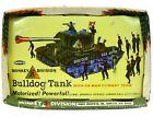 Vintage Remco Large Monkey Division Motorized US Army Bulldog Tank w/Box Works