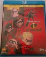 Disney Pixar The Incredibles 4 Disc Combo Pack 2 Blue Ray Movies DVD & Digital