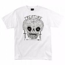 Creature Criddler Skateboard T Shirt White Xxl