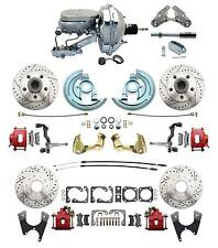 1964-1972 Chevelle Performance D/S Disc Conversion Kit, Red PC Calipers & Chrome