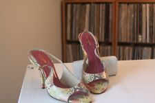 Kate Spade New York Multi Color Snakeskin 4 Inch Heels Size 10 B Made In Italy