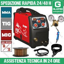 Saldatrice ad inverter a filo TIG MIG MMA FOX 185 Gas/no Gas 2,8 KvA 5 - 170 A A