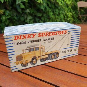 BOITE ORIGINALE / DINKY TOYS - BERLIET GBO - CAMION PÉTROLIER SAHARIEN -888