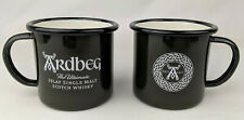 New 2 Mug Set Ardbeg Scotland Scotch Whiskey Celtic Enamel Metal Campfire Cup