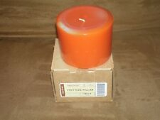Longaberger Pint Size Pillar Candle - Pumpkin Pie - New