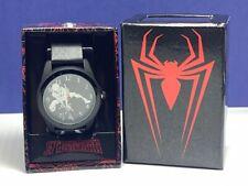 Spider-man Peter Parker Marvel comics watch wristwatch nib box accutime black
