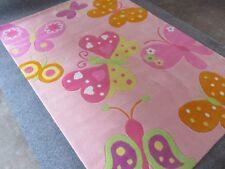 Kinder Teppich Handtuft Hochwertig Schmetterling 160 x 230 cm