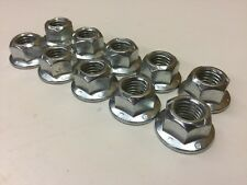 """10 each Jeerv Lock Nut Flange Top 5/8"""" 5/8-11 Grade G GR8 Steel w/ Zinc"""