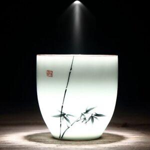 Teacup Traditional Chinese Tea Cup Bamboo Plum Shape Ceramic Porcelain Tea Cup