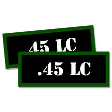 45 LC Ammo Can Labels Single Action Ammunition Case stickers decals 2 pack 3inch
