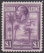 Sierra Leone 1932 Mint Mounted £1 Purple SG167 Cat £180 SUPERB CENTRE