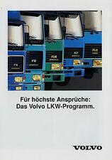 Prospekt Volvo Lkw-Programm 4/92 1992 F16 F12 F10 FL7 FS7 FL 618 614 611 608