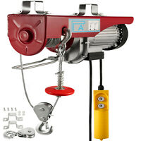 880lb Electric Motor Hoist Winch Lifting Engine Crane Hook Wire Overhead Lift