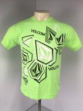 New listing VTG 90s VOLCOM Stone Neon Lime Green Surf Skate California S/S T-Shirt Sz M