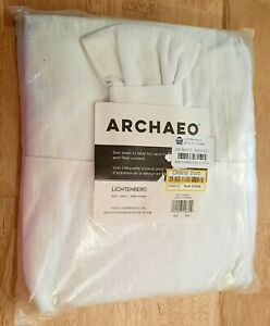 Archaeo Window Curtain Panel One Washed Cotton Twist Tab White 52 x 63 in