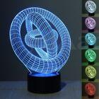 3D LED Illusion 7 Color Change Night Light Touch Switch Desk Table Lamp Decor