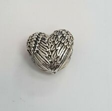 Authentic Pandora  Angelic Feathers Heart Sterling Silver Charm Item #791751