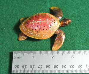 rhinestone bejeweled sea Turtle trinket box