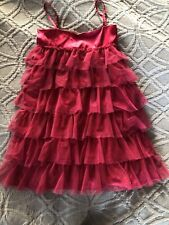GapKids Red Tulle Tiered Dress, Girls Size Small (7-8)