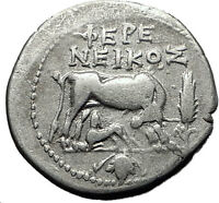 DYRRHACHIUM in ILLYRIA 208BC Cow GEMINI Symbol Ancient Silver Greek Coin i60621