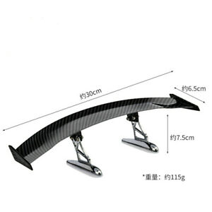 Car Accessories Universal Mini Rear Trunk Spoiler Wing Tail ABS Roof Trim 30cm