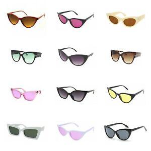 VTG 50s/60s Style womens Cat Eye Sunglasses Retro Rockabilly Glasses Vintage -UK
