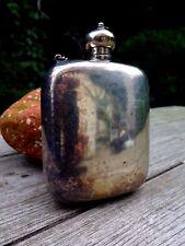 Vintage Retro Metal Hip Flask, Fishing, Hunting, Stamped Logo Collector no.15