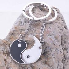 yin yang enamel couple keychain quality key rings holder high polish ending