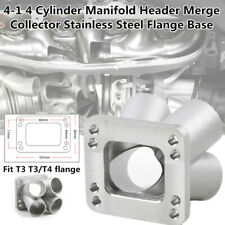 "4"" In 1"" Out 4 Cylinder Manifold Header Merge Collector Flange Base T3/T4 Turbo"