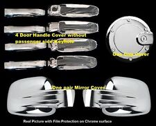 For Jeep LIBERTY 2002-2006 2007 Chrome Covers Set Full Mirrors+4 Doors w/o+Gas