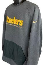 Nike Mens 2XL Pittsburgh Steelers Kangaroo Pocket Crewneck Sweatshirt NFL