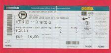 Orig.Ticket   Europa League  2009/10   HERTHA BSC BERLIN - FK VENTSPILS  !!