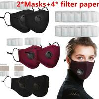 2* Bike Bicycle PM2.5 Anti Air Pollution Face Mask With Respirator With Filters