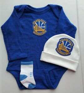Golden State infant/baby 3 pc outfit Golden State baby gift Warriors baby boy